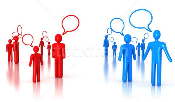 Mensen praten business partij achtergrond spreker team Stockfoto © SSilver