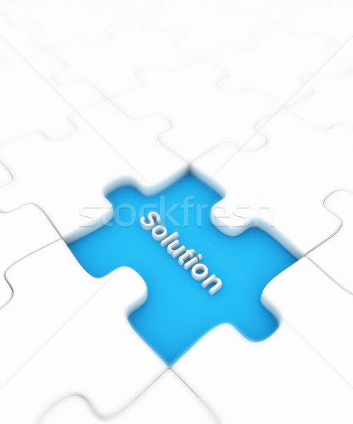 Puzzle manquant fond jouet blanche graphique Photo stock © SSilver