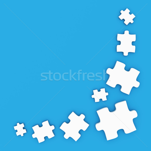 головоломки кадр фон игрушку белый графических Сток-фото © SSilver