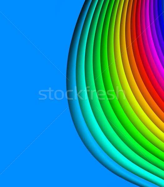 Renkli görüntü tanımlama soyut ışık yeşil Stok fotoğraf © SSilver