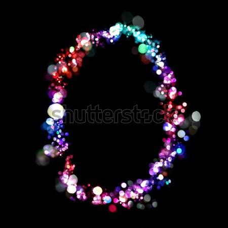 Luzes forma números azul carta diversão Foto stock © SSilver