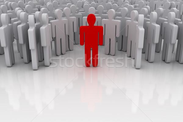 Em pé fora multidão negócio espaço grupo Foto stock © SSilver