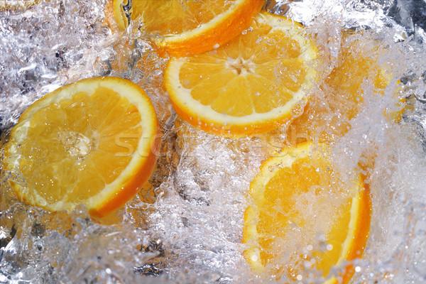 Fresche arance frutta arancione cascata colore Foto d'archivio © SSilver