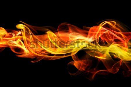 пламени аннотация огня свет красный черный Сток-фото © SSilver