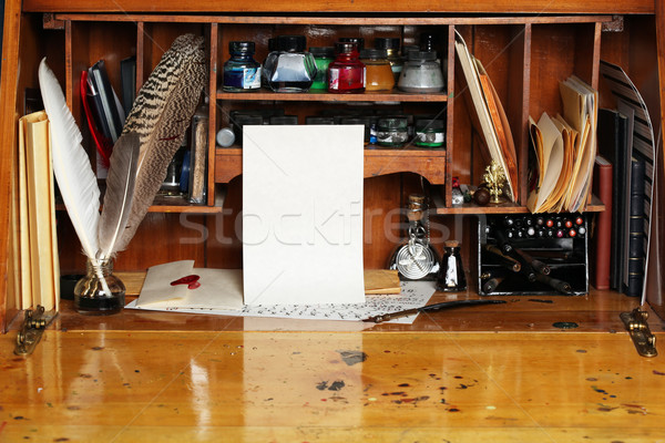 Old writing desk Stock photo © SSilver