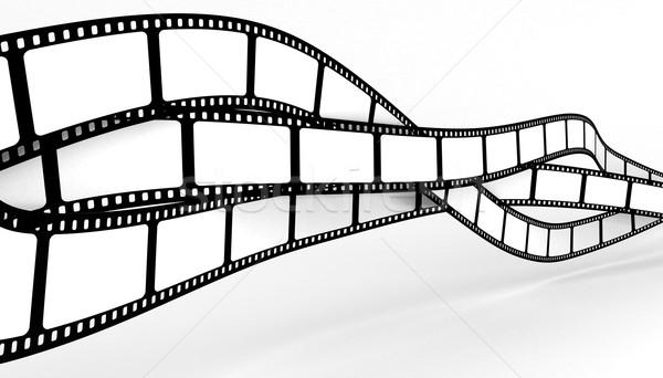 Film dizayn uzay siyah Retro beyaz Stok fotoğraf © SSilver