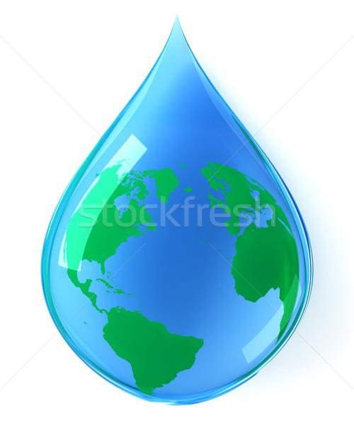 Terra goccia d'acqua acqua natura sfondo verde Foto d'archivio © SSilver