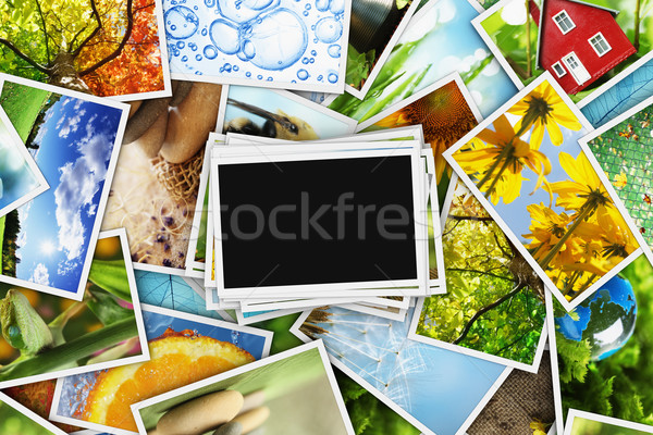 Collectie foto's lege foto hemel abstract Stockfoto © SSilver