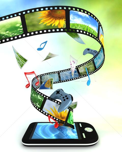 Fotoğrafları video müzik oyunları telefon Stok fotoğraf © SSilver