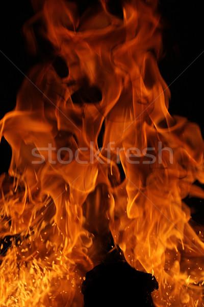 Tűz textúra háttér űr energia erő Stock fotó © SSilver