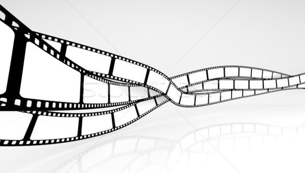 фильма дизайна пространстве черный ретро белый Сток-фото © SSilver