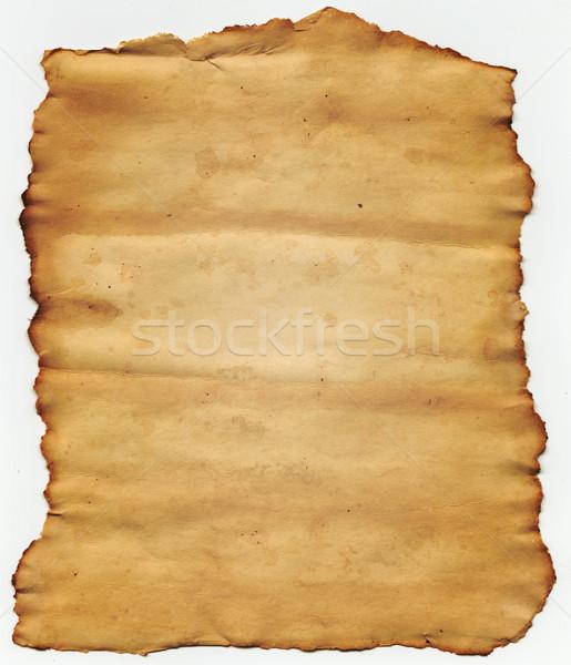 Eski yırtık kağıt kâğıt doku arka plan yazmak Stok fotoğraf © SSilver
