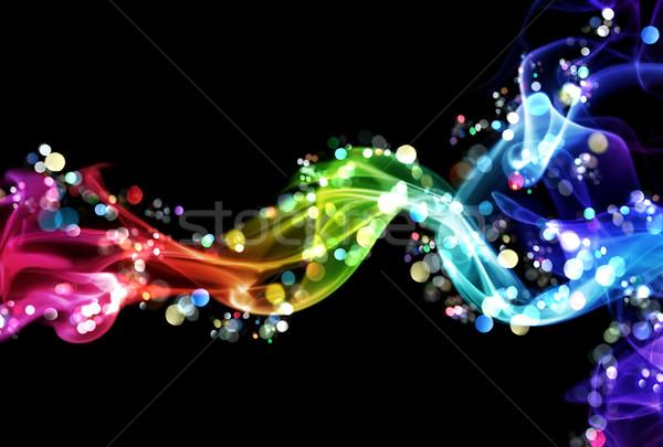 красочный дым фары искусства радуга черный Сток-фото © SSilver