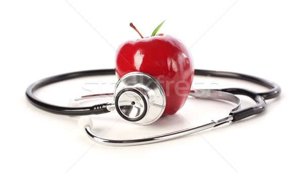Mela stetoscopio medico frutta medicina rosso Foto d'archivio © SSilver