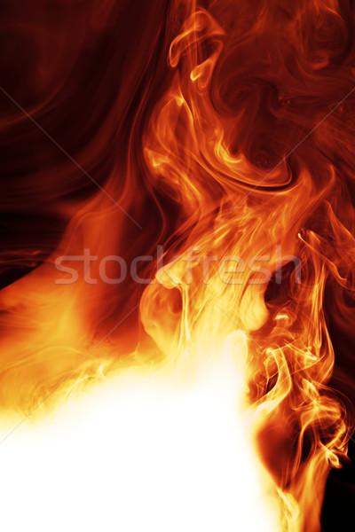 Yangın bo duman uzay beyaz sıcak Stok fotoğraf © SSilver