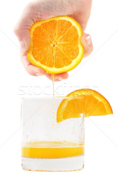 Fresh squeezed orange juice Stock photo © SSilver