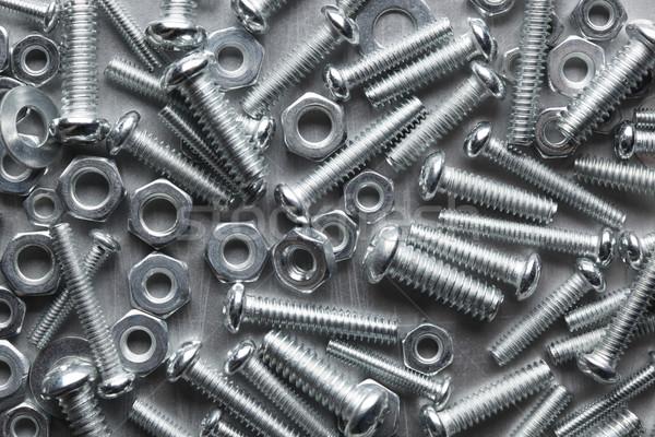 Nozes construção trabalhar industrial máquina ferramenta Foto stock © SSilver