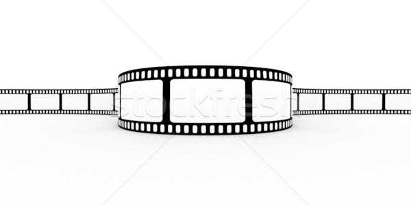 Stock fotó: Filmszalag · film · terv · képernyő · fekete · fehér
