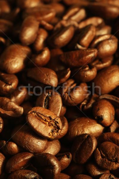 Grãos de café café cor café da manhã copo Foto stock © SSilver