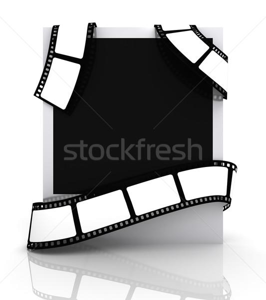 Foto filme quadro vídeo preto retro Foto stock © SSilver