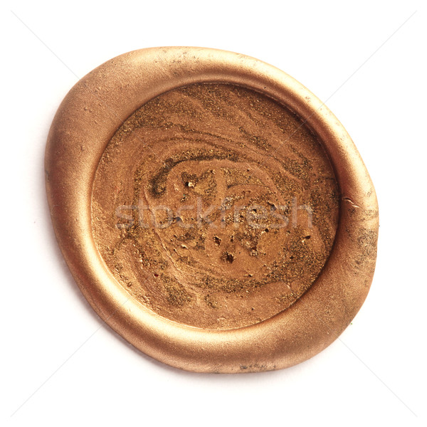 Gold wax seal Stock photo © SSilver