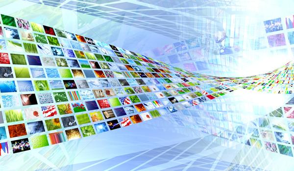 Foto stock: Coleção · televisão · projeto · tecnologia · monitor