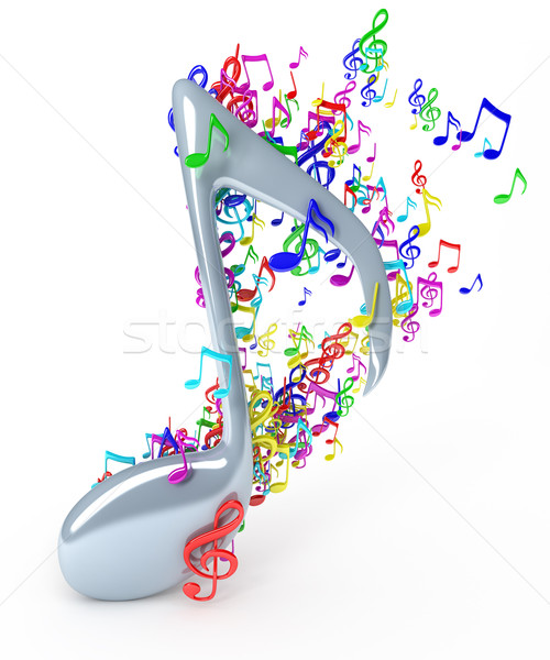 Music notes Stock photo © SSilver