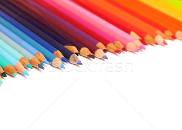 Lápis madeira fundo arte verde Foto stock © SSilver