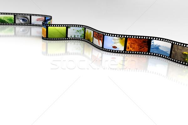 Filme projeto tela preto branco estúdio Foto stock © SSilver