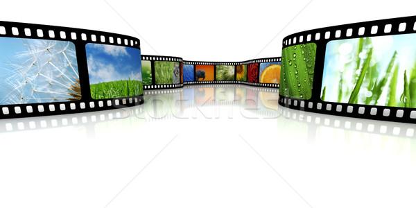 Film immagini design frame nero bianco Foto d'archivio © SSilver