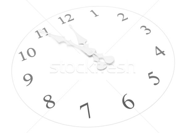 Clock mezzogiorno mezzanotte rendering 3d ufficio Foto d'archivio © SSilver