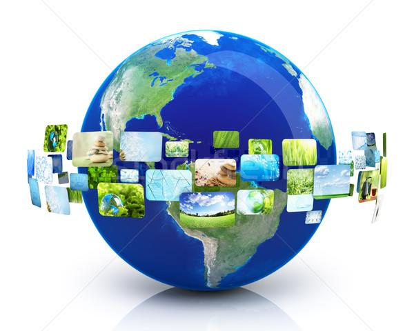 Terra immagini mondo web blu gruppo Foto d'archivio © SSilver