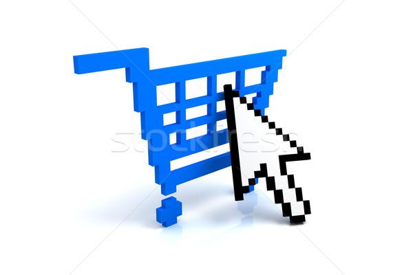 カート ボタン デザイン ショッピング ウェブ 青 ストックフォト © SSilver