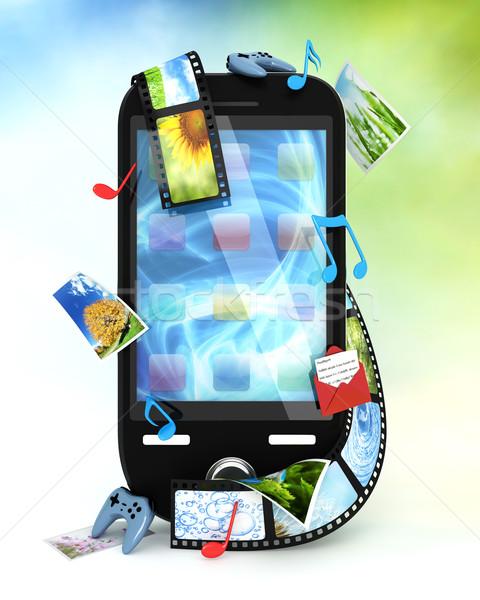 Smartphone foto's video muziek games telefoon Stockfoto © SSilver