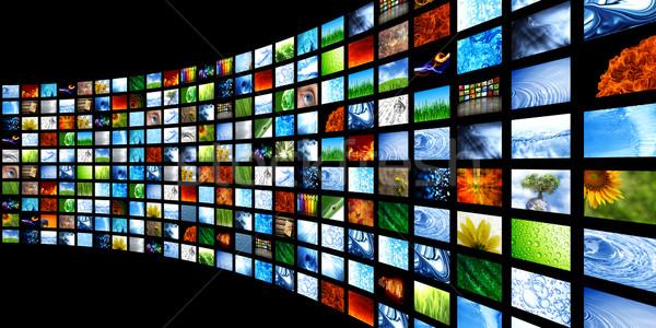 Toplama su Internet televizyon film Stok fotoğraf © SSilver