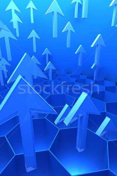 3D abstrato dados computador internet Foto stock © SSilver