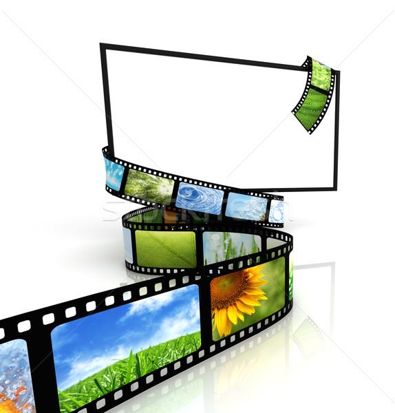 Film etrafında tv dizayn çerçeve siyah Stok fotoğraf © SSilver