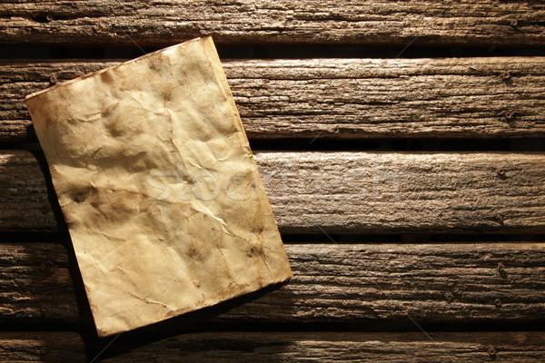Eski kağıt ahşap duvar kâğıt doğa dizayn Stok fotoğraf © SSilver