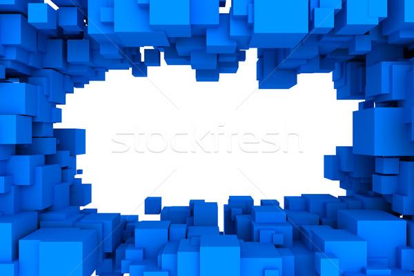 抽象的な ボックス 壁 デザイン 背景 ボックス ストックフォト © SSilver