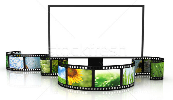 Filmstrip with blank TV Stock photo © SSilver