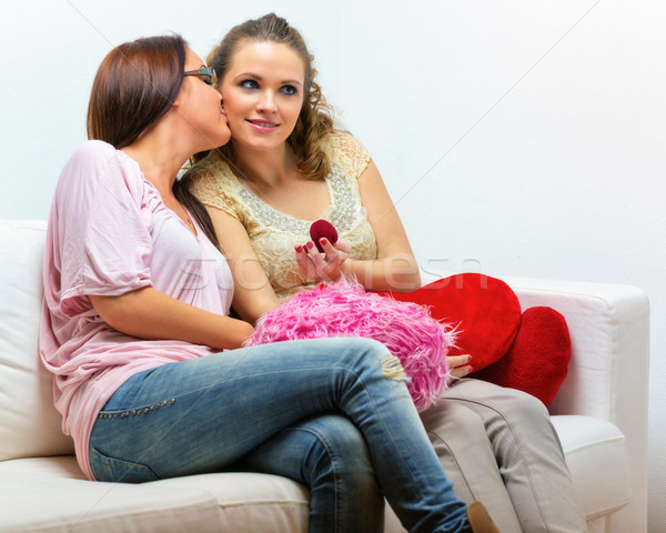 Lesbiche Coppia due bella giovani donne san valentino Foto d'archivio © Steevy84