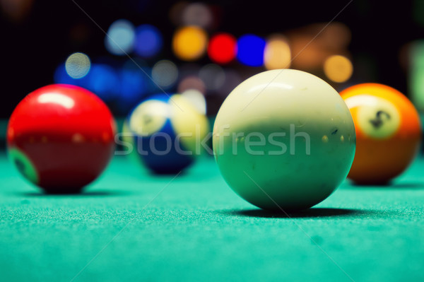 Billiard Balls Stock photo © Steevy84