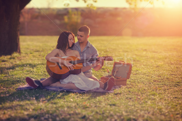 Séduisant couple image méthode bokeh Photo stock © Steevy84