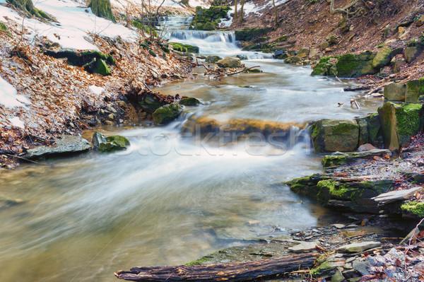 Bahar mini çağlayan yer doğa rezerv Stok fotoğraf © Steevy84