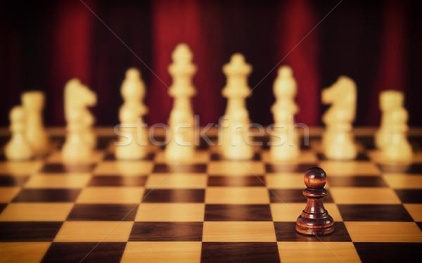 безнадежный Vintage стиль фото шахматная доска спорт Сток-фото © Steevy84
