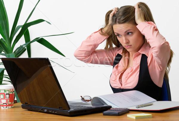Finanse sorunları güzel bilgisayar ofis Stok fotoğraf © Steevy84