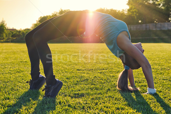 Do Sport in the sunset Stock photo © Steevy84