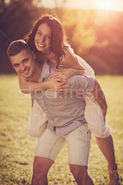 çekici çift romantik tarih Stok fotoğraf © Steevy84