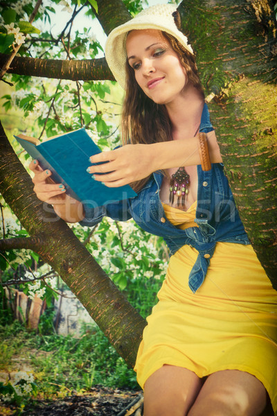 Reading in the nature Stock photo © Steevy84