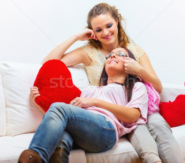 лесбиянок пару два красивой Сток-фото © Steevy84